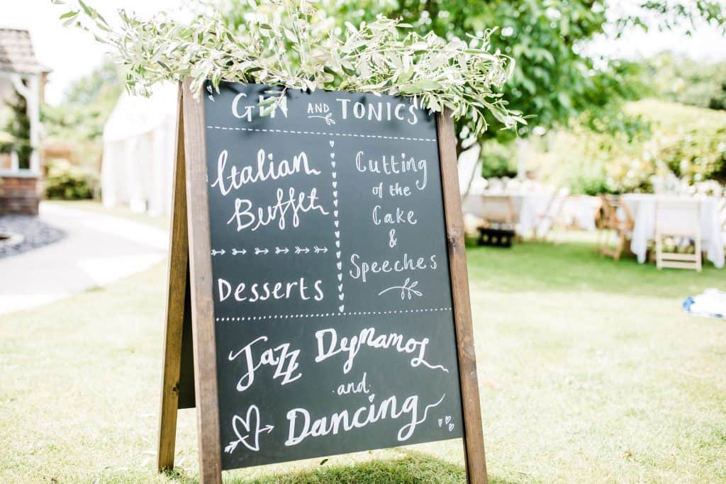 Pretty details of a garden wedding party