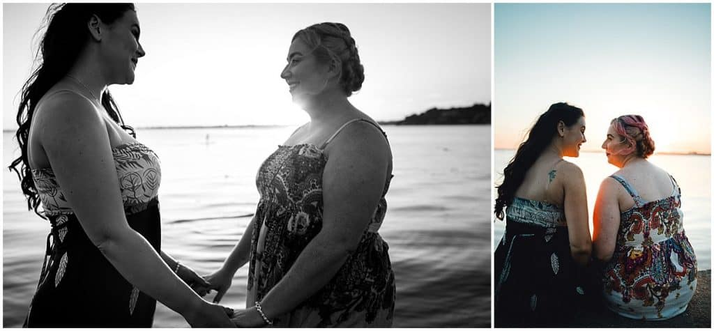 sunset engagement session hampshire