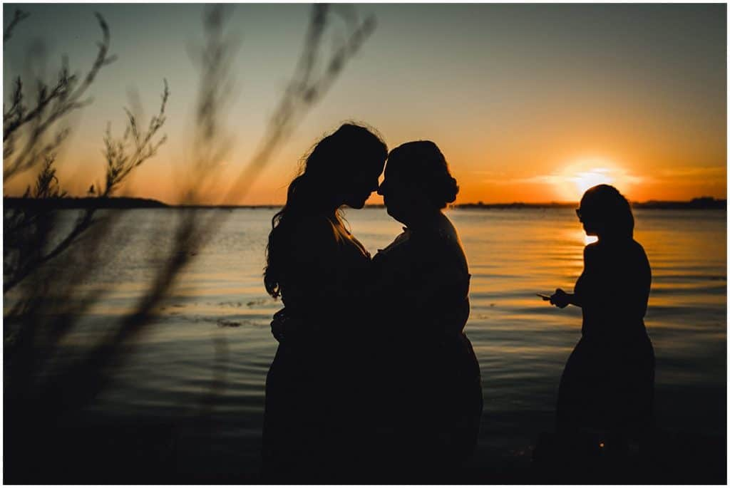 sunset engagement session dorset