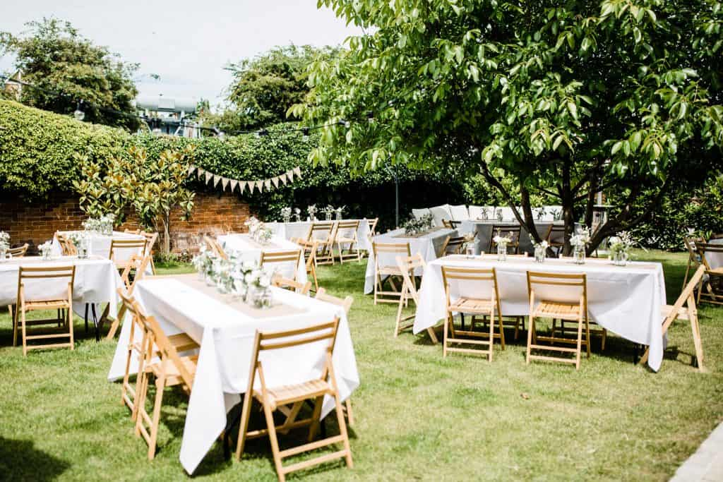 Home wedding reception Southampton