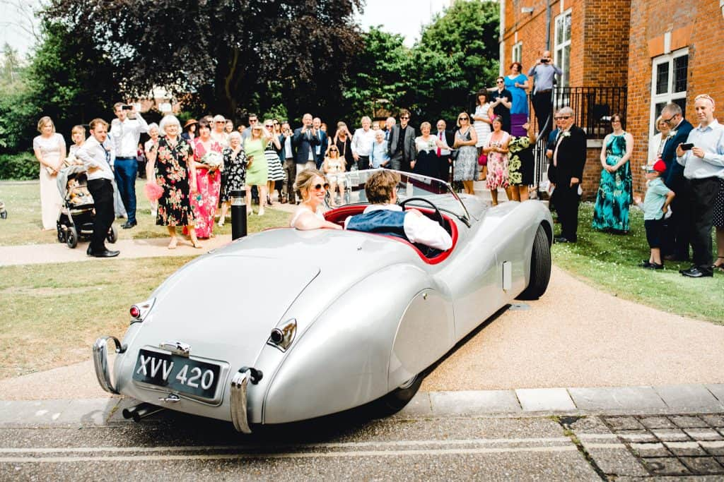Leaving your wedding in a jag