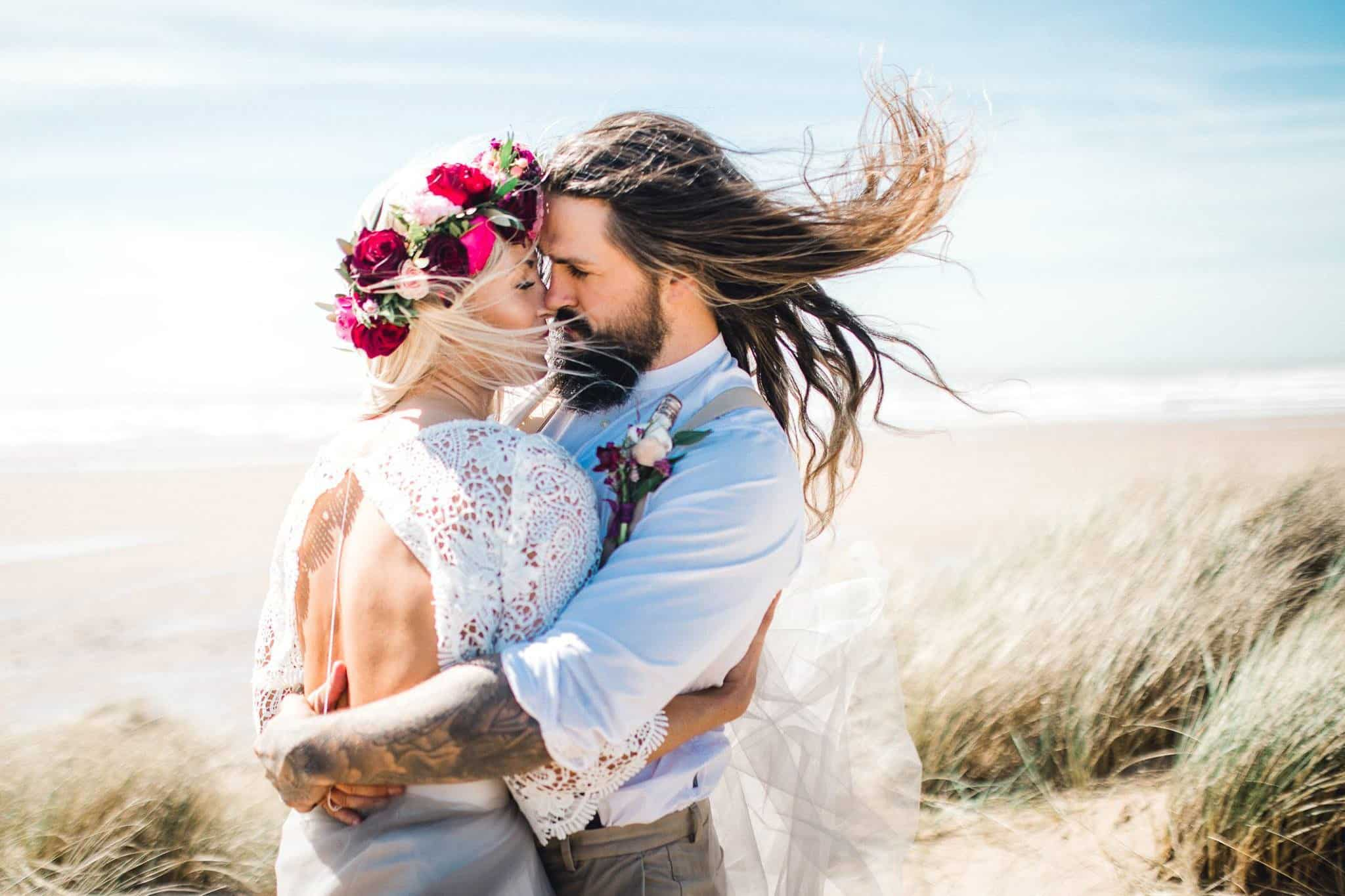 Beautiful beach wedding day