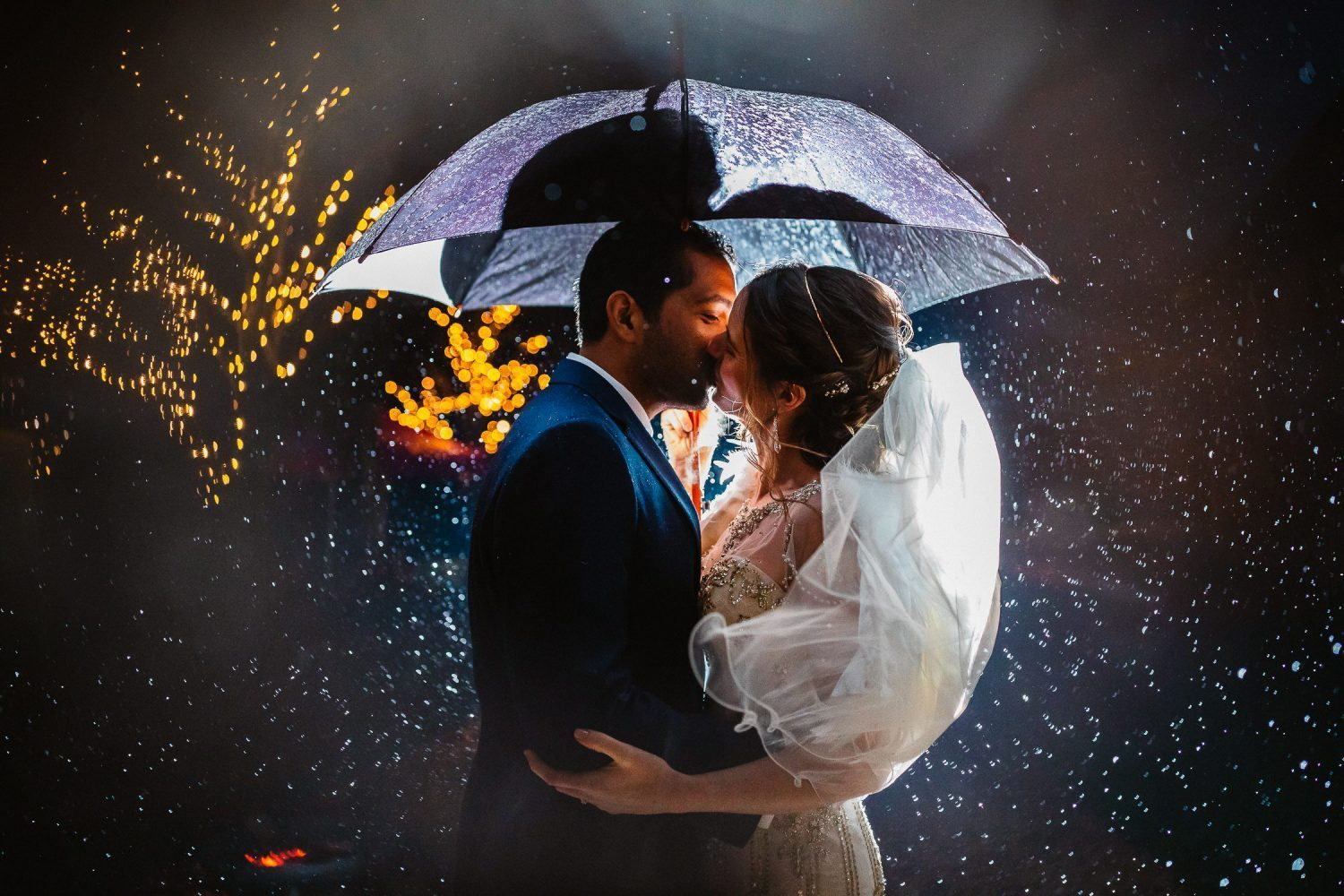 Dancing in the rain wedding day