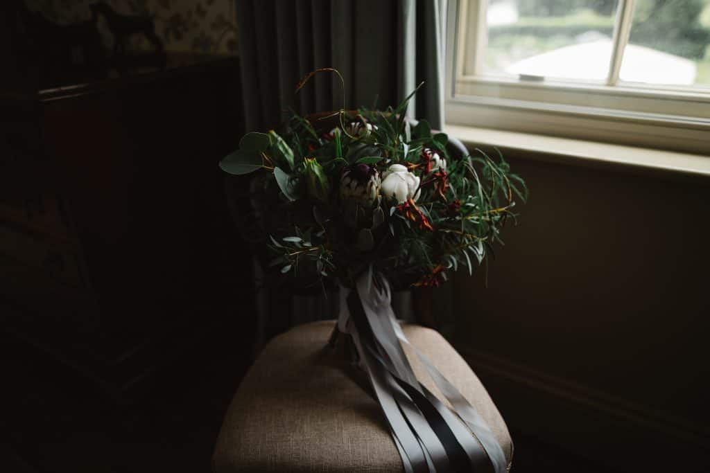 Natural relaxed wedding bouquet