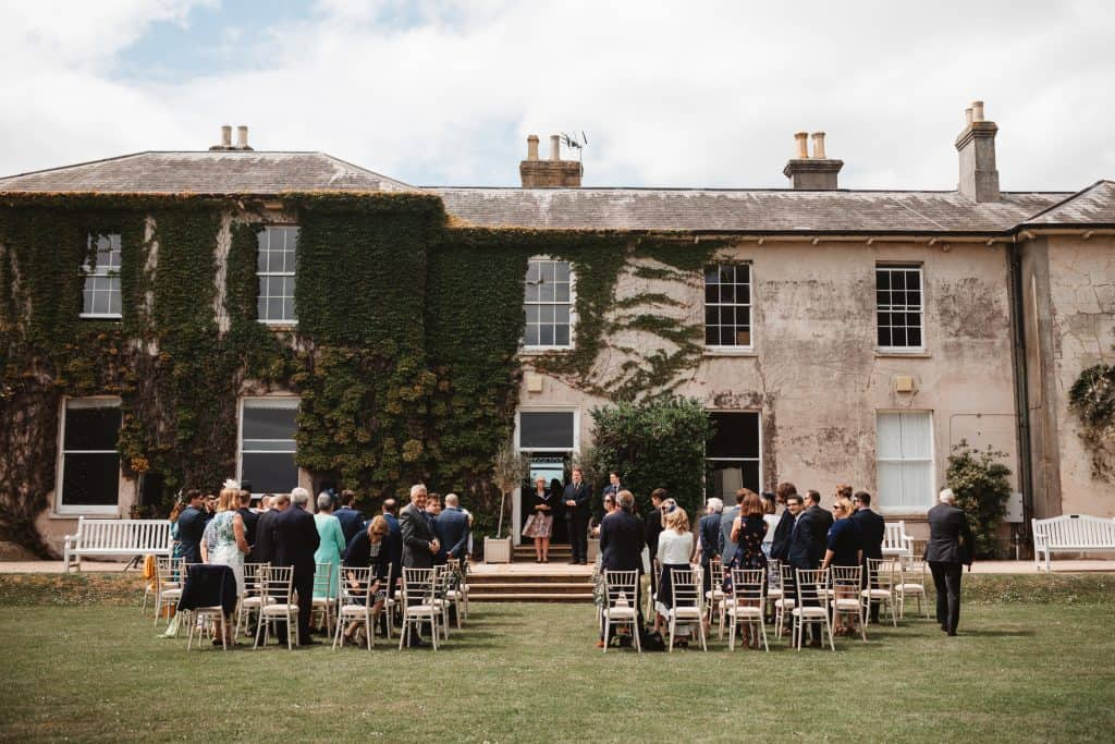 Outdoor ceremony at Knighton House Dorset
