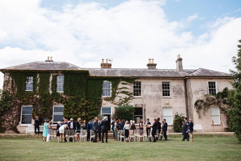 KNighton house outdoor ceremony