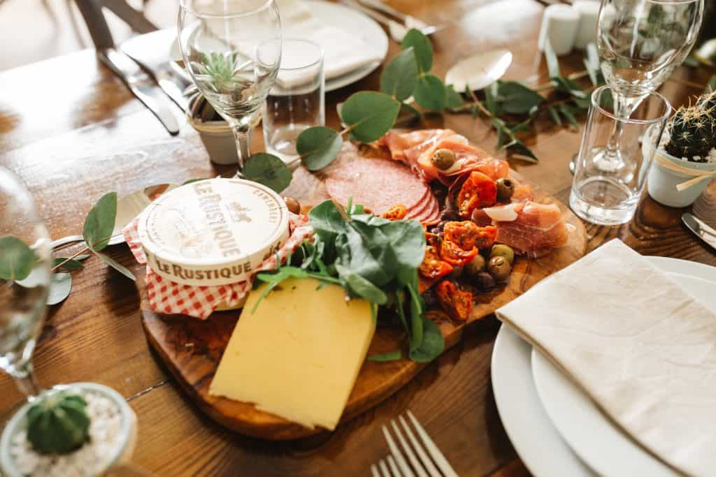 Sharing platter for wedding breakfast