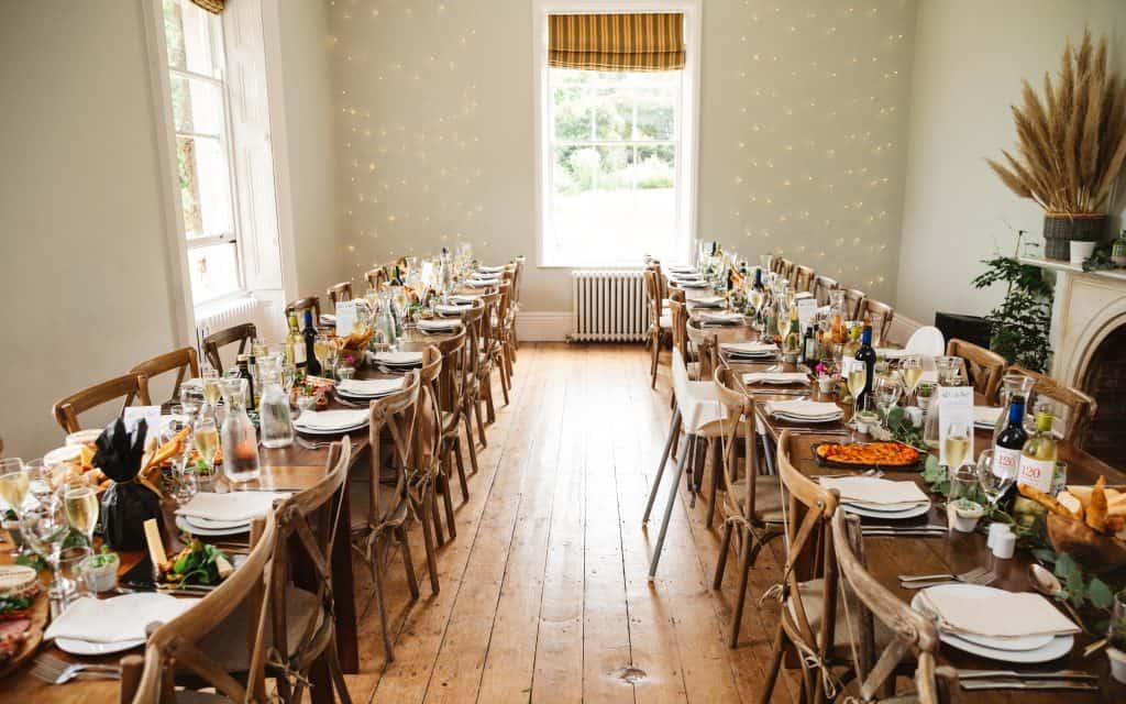 Knighton house wedding banquet