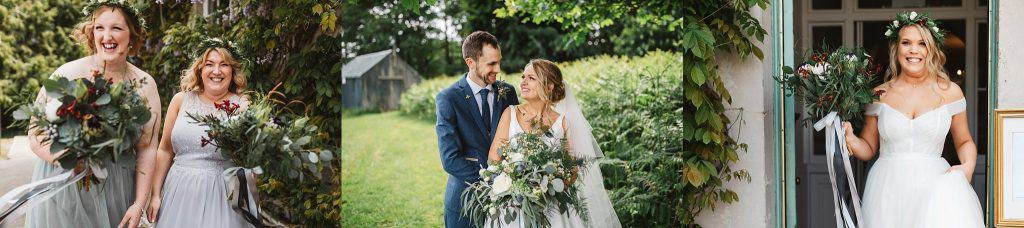 Natural relaxed countryside wedding photographs