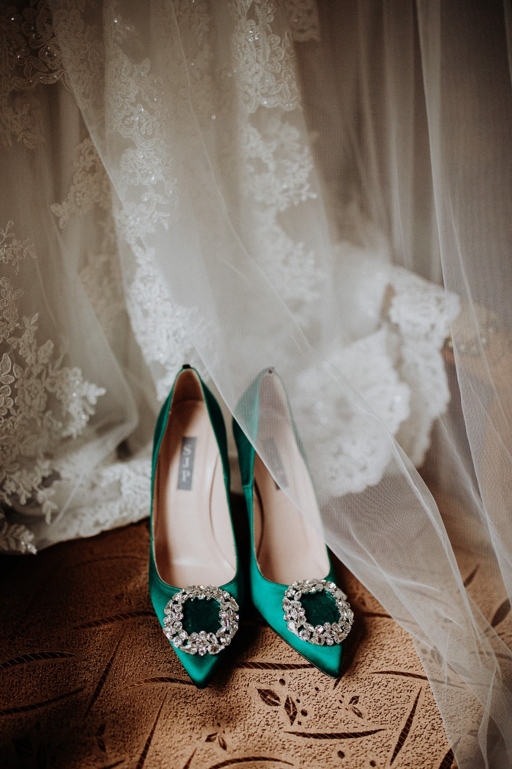 Sarah Jessica Parker green wedding shoes